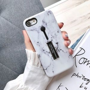 NEW iPhone XS/X/7/8/Plus Marble Ring Holder Case